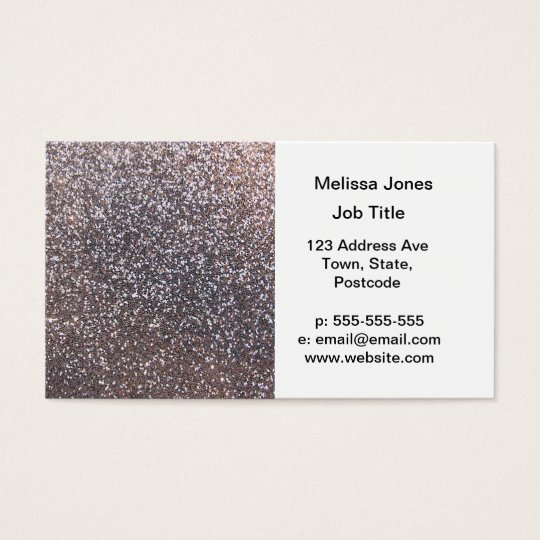 Faux Silver glitter graphic Business Card