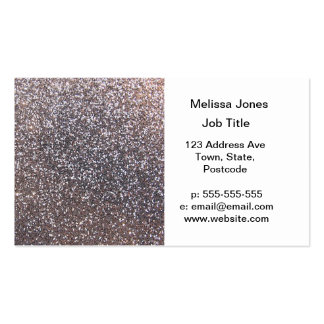 Faux Silver glitter graphic Business Cards