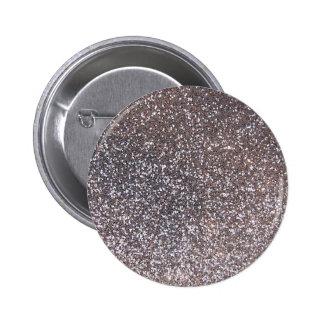 Faux Silver glitter graphic Button