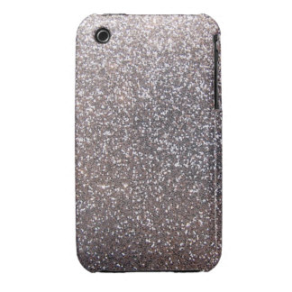 Faux Silver glitter graphic iPhone 3 Cover