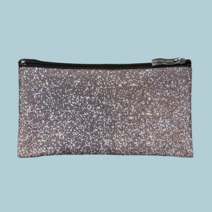 Faux Silver glitter graphic Cosmetic Bag