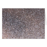 Faux Silver glitter graphic Greeting Card