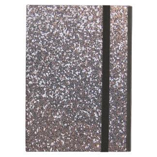 Faux Silver glitter graphic iPad Folio Cases