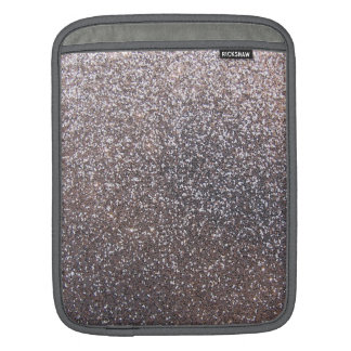 Faux Silver glitter graphic iPad Sleeves