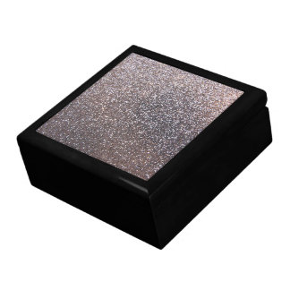 Faux Silver glitter graphic Keepsake Box
