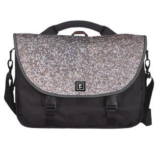 Faux Silver glitter graphic Computer Bag