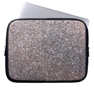 Faux Silver glitter graphic Laptop Computer Sleeves