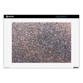 Faux Silver glitter graphic Laptop Decal