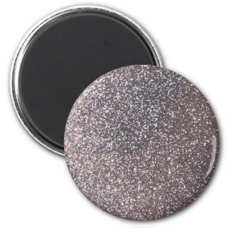Faux Silver glitter graphic Magnet