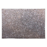 Faux Silver glitter graphic Place Mat