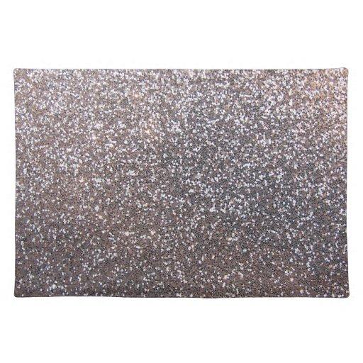 Silver Glitter Placemats Silver Glitter