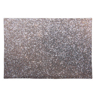 Faux Silver glitter graphic Placemat