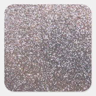 Faux Silver glitter graphic Square Sticker