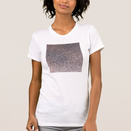 Faux Silver glitter graphic T Shirt