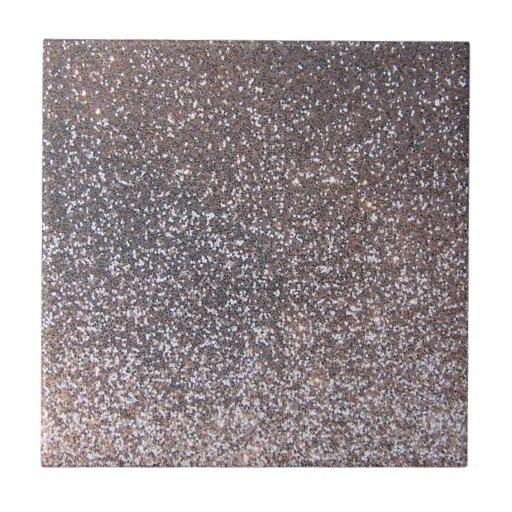 Faux Silver glitter graphic Tile