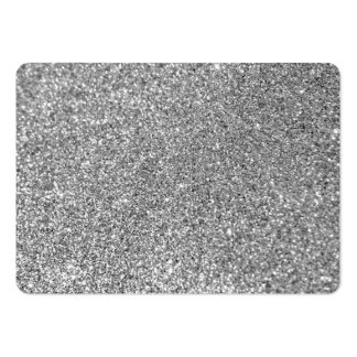 Faux Silver Glitter Photo Large Business Cards (Pack Of 100)