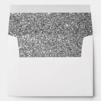 Faux Silver Glitter Photo Envelope