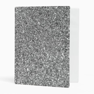 Faux Silver Glitter Photo Mini Binder