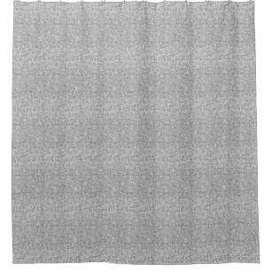 Faux Silver Glitter Shower Curtain
