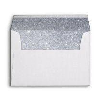 faux silver glitter sparkle look envelope