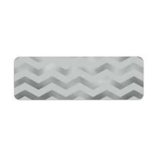 Faux Silver Grey Foil Chevron Zig Zag Texture Label