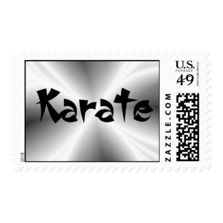 Faux Silver Karate Postage Stamp