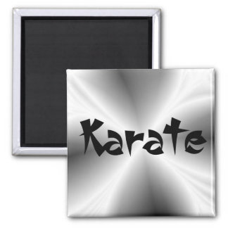 Faux Silver Karate Square Magnet
