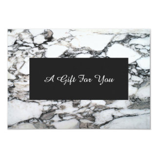 Faux Silver Marble Spa and Salon Gift Certificate Card