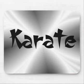 Faux Silver Metallic Karate Mouse Pad
