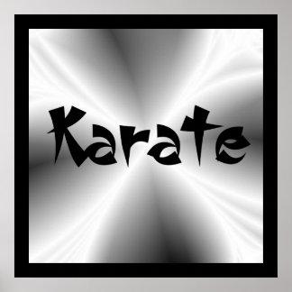 Faux Silver Metallic Karate Poster Print