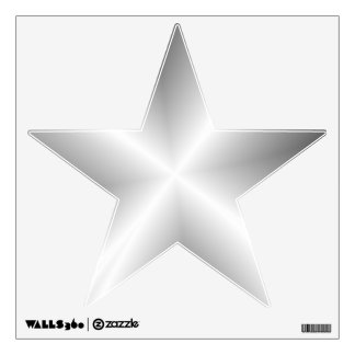 Faux Silver Metallic Star Wall Decal
