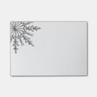 Faux Silver Metallic Winter Snowflake Post-it® Notes