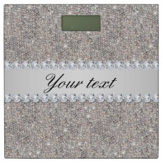 Faux Silver Sequins And Diamonds Bathroom Scale at Zazzle