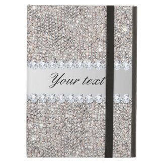 Faux Silver Sequins and Diamonds iPad Air Covers