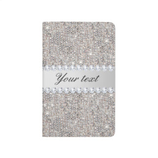 Faux Silver Sequins and Diamonds Journal