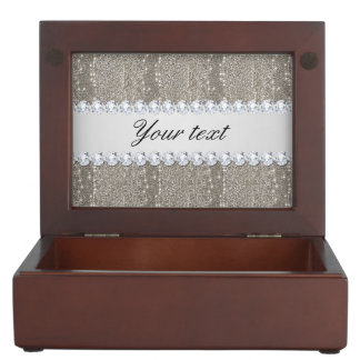 Faux Silver Sequins and Diamonds Memory Box