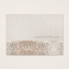 Faux Silver Sequins Beauty Gift Certificate at Zazzle