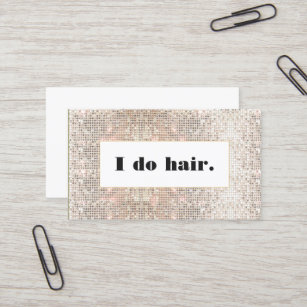 Hair stylist business cards zazzle faux silver sequins bold hair stylist salon business card colourmoves