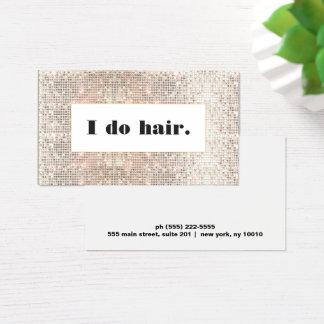 Faux Silver Sequins Bold Hair Stylist Salon Business Card
