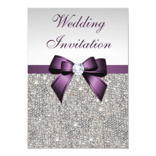 Purple And Silver Wedding Invitations 031 - Purple And Silver Wedding Invitations