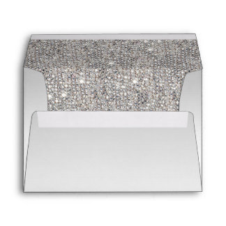 Faux Silver Sequins Envelope