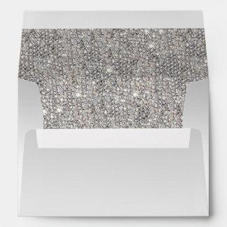 Faux Silver Sequins Envelope