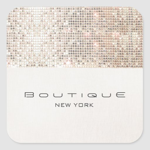 FAUX Silver Sequins Linen Look Cute and Modern Sticker