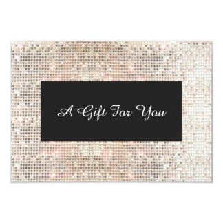 Faux Silver Sequins Spa and Salon Gift Certificate Card