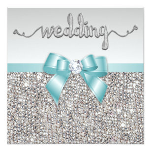 Teal And Silver Wedding Invitations Zazzle