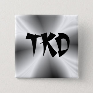 Faux Silver TKD Button