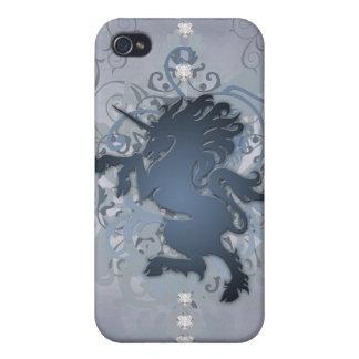 Faux Silver Urban Fantasy Unicorn 4g I iPhone 4 Case