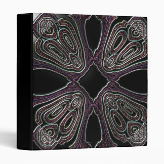 Faux Slick Grapic Purple/Black Leather Notebook 3 Ring Binder