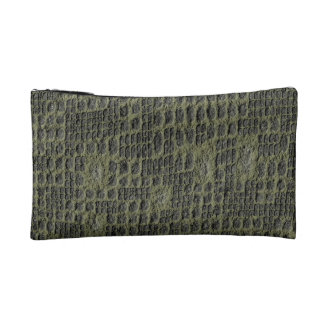 Faux Snake Skin Cosmetic Bag