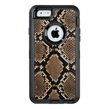 Faux Snake Skin Iphone 6/6s Case Otterbox by casesandElectronics at Zazzle